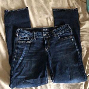Silver women's jeans